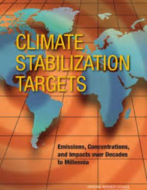 Cover of the Climate Stabilization Targets report