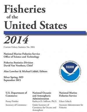 Cover of the Fisheries of the United States 2014 report