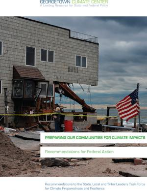 Cover of the Preparing Our Communities for Climate Impacts report