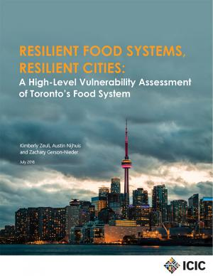 Report cover, with the skyline of Toronto