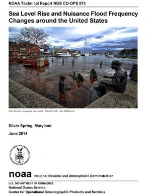 Cover of the Sea Level Rise and Nuisance Flooding Frequency Changes report