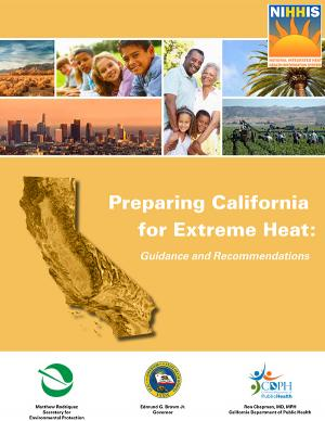 Cover of the Preparing California for Extreme Heat report