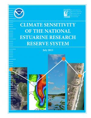 Cover of the Climate Sensitivity of the National Estuarine Research Reserve Network report