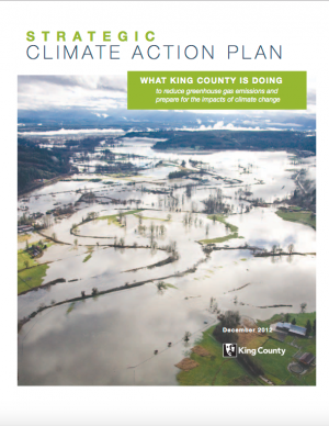 Cover of the Strategic Climate Action Plan for King County, Washington