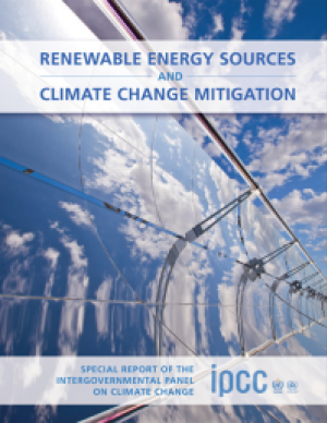 Cover of the Renewable Energy Sources and Climate Change Mitigation report