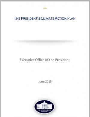 The cover of the President's Climate Action Plan