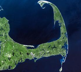 Satellite view of Cape Cod