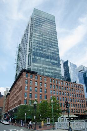 The Atlantic Wharf skyscraper in Boston