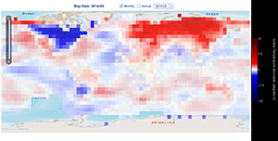 Map Showing Global Temperature Anomalies