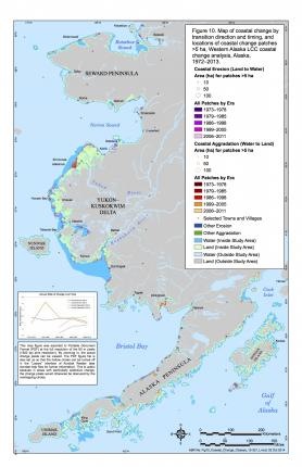 Map of coastal change in western Alaska