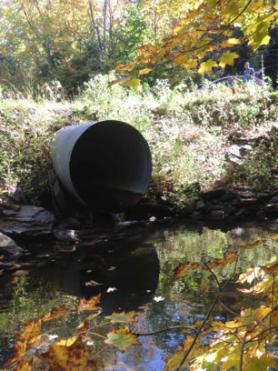 Culvert on Lake Creek in Rensselaerville, New York.