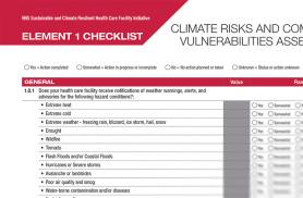 Climate Resilience Checklists