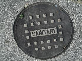 Sanitary sewer manhole cover