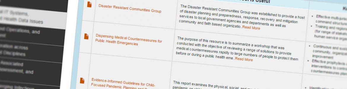 Screenshot from Community Health Resilience Guide