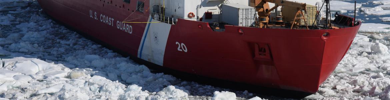 Coast Guard cutter Healy in sea ice