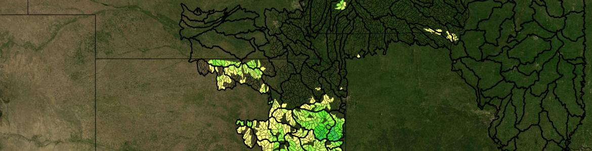 Screen capture from the DEP's interactive map