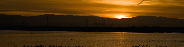 Photo of sunrise over San Francisco Bay