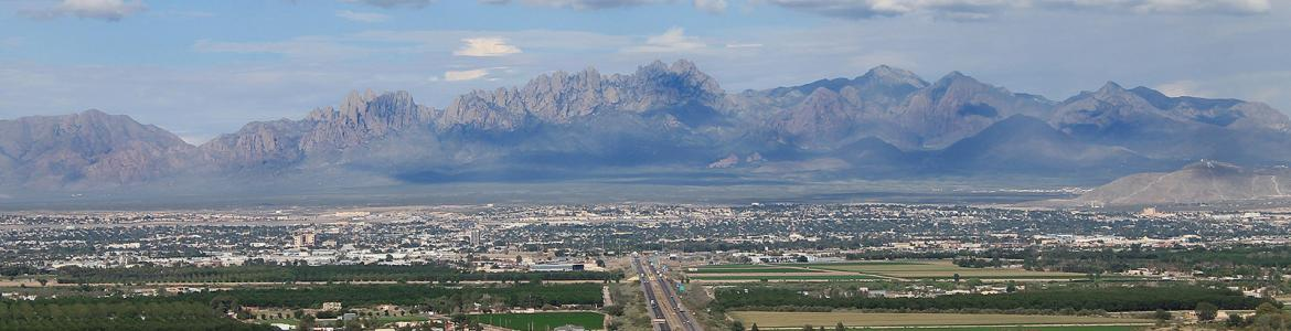 Skyline of Las Cruces, NM and the Organ Mountains
