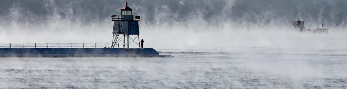 The lighthouse at Agate Bay, Two Harbors, Minnesota