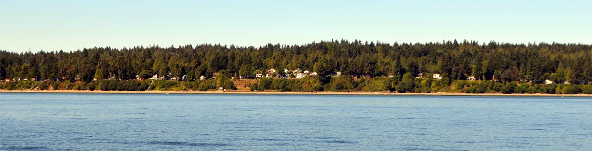 Homeland of the Suquamish Tribe taken from Port Madison Bay