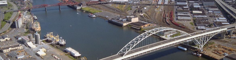 USACE photo of Fremont Bridge, Portland, Oregon