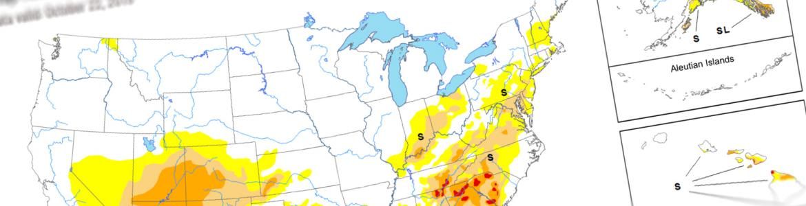 Screen capture from the U.S. Drought Monitor