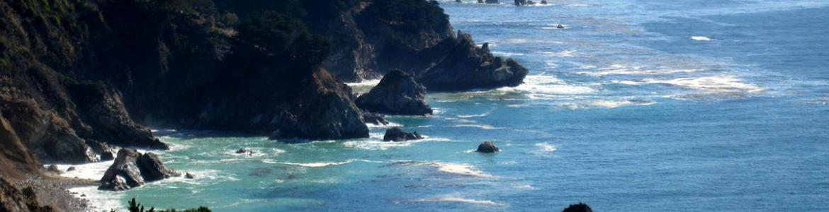 Image of the California coastline from the Cal-Adapt website.