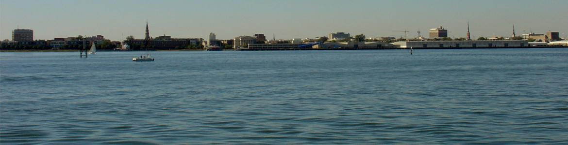 Charleston skyline from Charleston Harbor
