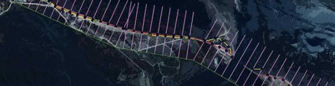 Screen capture from the Digital Shoreline Analysis System