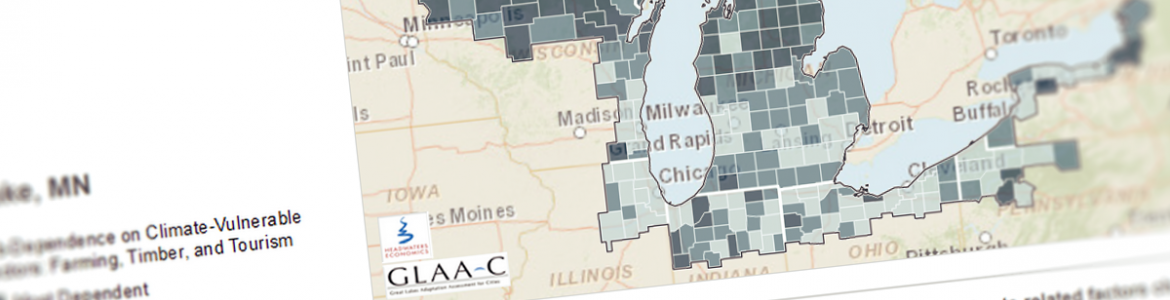 Screenshot from the Great Lakes Climate and Demographic Atlas