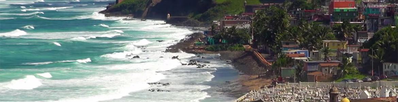 Beach scene in San Juan