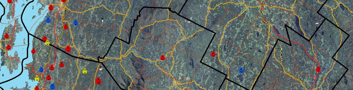 Screen capture from the Vermont Tick Tracker