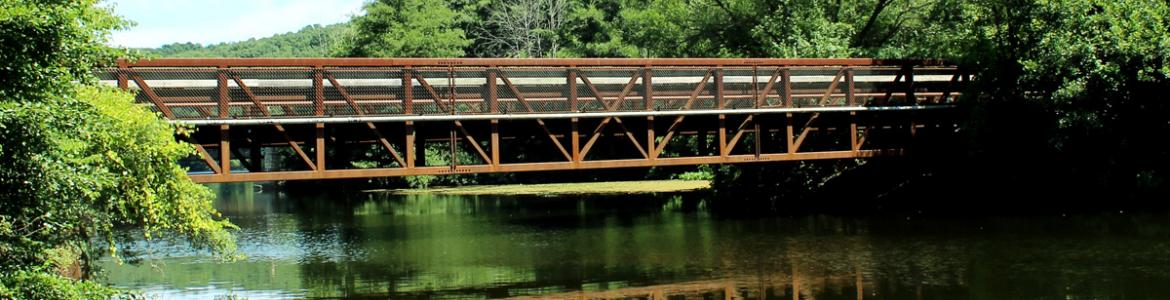 Bridge over the Huron River, Bandemer Park, Ann Arbor, Michigan