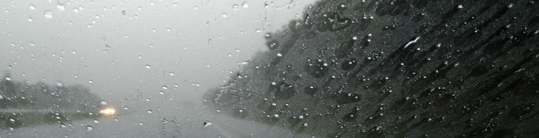 Driving through a storm in Kentucky.